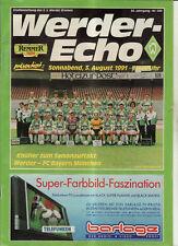 BL 91/92 SV Werder Bremen - FC Bayern München, 03.08.1991