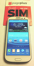 Unlocked PagePlus 4G LTE Verizon Samsung Galaxy S III S3 White - Unlimited Data