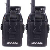 2 Pacs Two Way Walkie Talkie Radio Case Holster For Motorola Kenwood Baofeng New