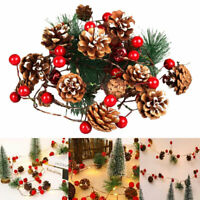 Tannenzapfen LED String Lichterketten Berry Weihnachtsbaum Girlande Party Dekor