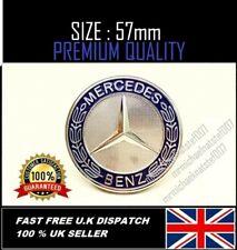 For Mercedes Benz Blue Wreath Bonnet Badge AMG LINE 57mm NEW