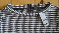 Esprit business Damen Shirt 3/4-Arm schwarz-weiß kariert Gr.42 neu NP 69,99