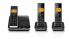 BT Xenon 1500 Cordless Telephone with Answering Machine Trio Pack