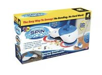 Hurricane Spin Broom Lightweight Cordless Easy by Bulb Head As Seen on TV