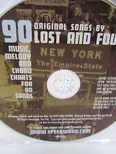 CD ONLY - LOST & FOUND - 90 Melody & Chord Charts for Songs (no music) ADOBE