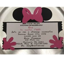 Minnie Mouse Birthday Invitations Ticket Style--set Of 10