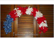 AMERICANA FLAG RAG GARLAND ARCH,Prim,Homespun,Country,Shabby.July 4th,Patriotic