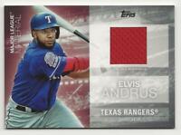 2020 Topps Update ELVIS ANDRUS Major League Material Relic Rangers Jersey MLM-EA