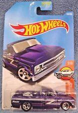 2017 Hot Wheels #158 HW Hot Trucks 5of10 '67 CHEVY C10 Purple w/5 spoke wheels