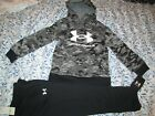 NEW Boys Under Armour 2Pc OUTFIT Digital Camo Hoodie+Black Pants Sz 3t FREE SHIP