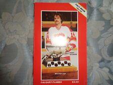 1981-82 CALGARY FLAMES MEDIA GUIDE Yearbook 1982 NHL Hockey Program FACT BOOK AD