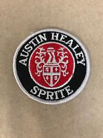 "Vtg Austin Healey Sprite Embroidered Sew On Patch 3"" Auto Racing Badge Hot Rod"