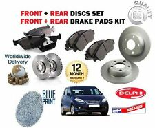 FOR HONDA FRV 2.2DT CTDi 2005-> FRONT + REAR BRAKE DISCS SET AND DISC PADS KIT