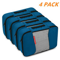 4 PCS Portable Nylon Waterproof Travel Storage Bag Cube Luggage Organizer Set