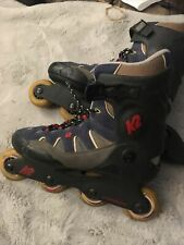 K2 Ascent Inline Skates Roller Blades Soft Boot Blue Black Mens Size 9