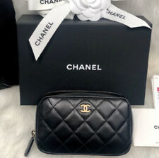 CHANEL O Case Cosmetic Pouch Makeup Bag RARE! NIB