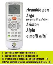 Télécommande climatiseur Argo Ariston Alpin climatiseur pompe à chaleur