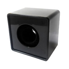 Black ABS Mic Logo Flag  Square Cube Shaped Microphone Interview Station