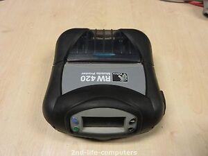 """Zebra RW420 DT 4"""" USB R4D-0UBA000E Mobile Ticket Receipt Printer Bluetooth EX PS"""