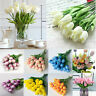 1/5pcs Artificial Flower Fake Tulip Bridal Wedding Bouquet Party Home Decor