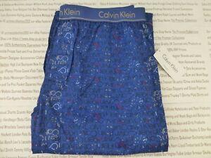 CALVIN KLEIN Pyjama Bottom Mens Deep Blue Size XL Long Lounge Pants BNWT R£45