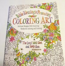 Bible Blessings and Promises Coloring Art, Adult Coloring Book!