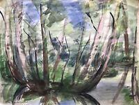 Ulla Haakø Weinert 1897-1967  Im Wald Skovsø Natur Dänemark Expressiv