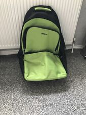 United Colours Of Benetton Wheel Luggage Green Travel Bag back pack