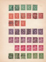 germany weimar republic  period stamps on pages ref 13124