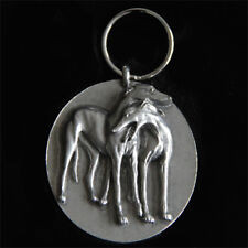 Greyhound Keychain - Whippet Keychain - Galgo Key Ring - Two Hounds