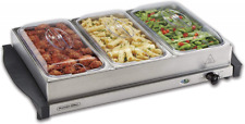 Server & Food Buffets Warmer Parties Three 2.2 Qt Stainless Steel Chafing Dishes