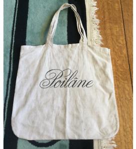 1990s Poilane Bakery Linen Tote Bag
