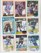 1981-82 TOPPS SIGNED ROOKIE CARD PETER STASTNY QUEBEC NORDIQUES BLUES DEVILS 39
