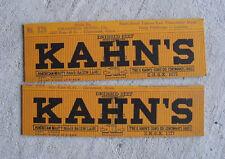 Vintage Oo Scale Boxcar Cardboard Side Panels Kahn's Beef