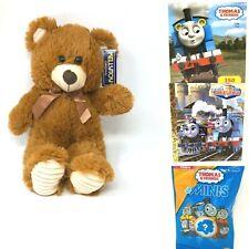 Thomas the Train Engine Kids Activity Gift Plush Bear Stickers 4 Item Bundle