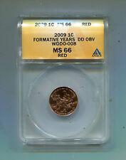 Lincoln Cent Error-WDDO-008-Anac's Attributed MS-66