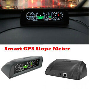 Multi-functional Slope Meter HUD GPS Speedometer Over Speed Alarm KM/h PMH