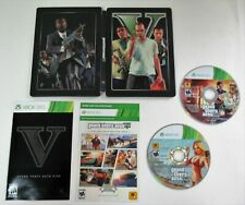 Grand Theft Auto V Steelbook Version - Microsoft Xbox 360 w/Manual Good Cond.