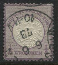 Germany 1872 Imperial Eagle 1/4 groschen violet used  (JD)