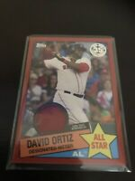 Topps Series Two David Ortiz Red Border Jersey Relic GU SSP /25 Red Sox