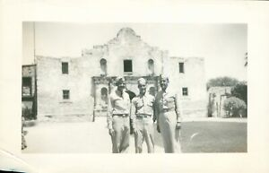 1944 WWII USAAF 54th BFTG airman at the Alamo San Antonio Texas Photo