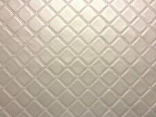 Enrejado Vinilo Pvc Plata de cuero de imitación de cuero tejido acolchado