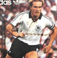 Rummenigge Autogrammkarte -signed- Adidas - DFB  Team Captain - 1982
