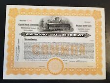 Johnstown Traction Company Stock Certificate RARE Trolley Streetcar Pa
