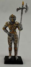 Superb Gothic Fantasy Standing Knight with Battle Axe Figure. Medieval, NEW 14cm