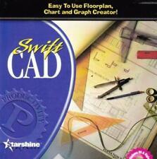 Swift CAD PC CD drawing floorplans chart graphs draw design layout symbols tools