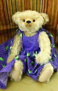 "Bear Elegance Antique Reproduction OOAK Mohair Teddy Bear 18"" Joan Woessner"