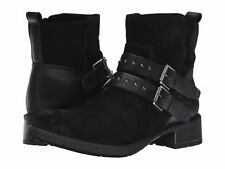 CLARKS SWANSEA GROVE BLACK SUEDE LEATHER ANKLE BOOTS SIZE UK 4 D