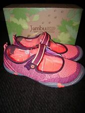 Brand New Girls Pink & Orange Jambu Sora 2 Sandals, Size 4 M