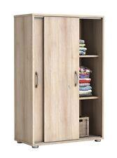 Armario zapatero 2 puertas correderas color haya, 83x106cm, mueble auxiliar